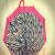 Stylish Zebra Print Pink Canopy Umbrella