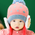 Cute Winter Star Fashion Knitted Hat with Bear Fleece Ear Muff Kids Toddler Baby 6-36mos